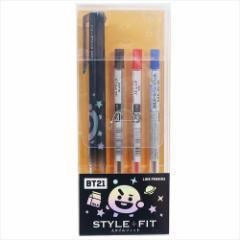 BT21 防弾少年団 ボールペン スタイルフィット 3色 ホルダーペン SHOOKY LINE FRIENDS 文具 キャラクター グッズ