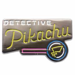 名探偵ピカチュウ ピンバッジ ピンズ ネオンサイン ピカチュウ ポケモン コレクション雑貨 キャラクター グッズ メール便可