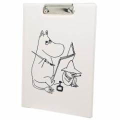 ムーミン 用箋挟 A4 二つ折り クリップボード ホワイト 北欧 新学期準備雑貨 キャラクター グッズ