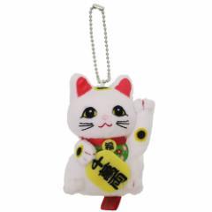 招き猫 マスコット ミニぬいぐるみボールチェーン 8cm キャラクター グッズ