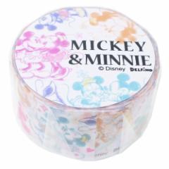 ミッキー&ミニー マスキングテープ 箔入り クラフトテープ カラフル ディズニー デコテープ キャラクター グッズ メール便可