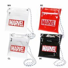 マーベル サコッシュ クリア ミニ ショルダーバッグ BOXロゴ MARVEL 15.5×18×2.5cm キャラクター グッズ メール便可