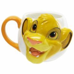 ライオンキング マグカップ ダイカット フェイス マグ シンバ ディズニー 380ml キャラクター グッズ