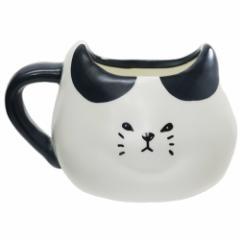 マグカップ ふてぶてしいねこ 磁器製 MUG ぶちネコ 400ml かわいい グッズ