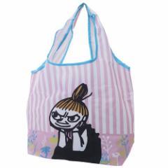 ムーミン エコバッグ 折りたたみ くるくる ショッピングバッグ リトルミイ リラックス 北欧 45×60×15cm キャラクター グッズ