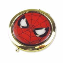 スパイダーマン 手鏡 W コンパクトミラー マーベル ミニミラー キャラクター グッズ