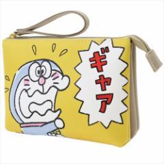 ドラえもん コスメポーチ ワンポイント 刺繍 ダブル ポーチ Aギャア サンリオ 12.5×10×4cm キャラクター グッズ