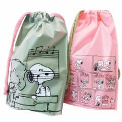 スヌーピー ギフト 巾着バッグ ビニール SS 2枚セット ラッピング用品 ピアノ ピーナッツ 17×24×6cm キャラクター グッズ メール便可