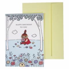 ムーミン グリーティングカード ウッドパーツ バースデーカード リトルミイ 北欧 お誕生日おめでとう キャラクター グッズ メール便可