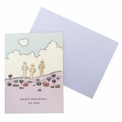 ムーミン グリーティングカード ウッドパーツ バースデーカード ニョロニョロ 北欧 お誕生日おめでとう キャラクター グッズ メール便可