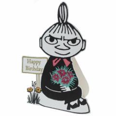 ムーミン グリーティングカード グリッター バースデーカード リトルミイ 北欧 お誕生日おめでとう キャラクター グッズ メール便可