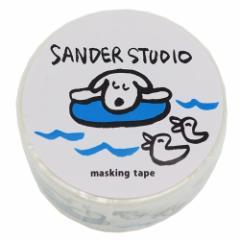 マスキングテープ 20mm マステ サンダースタジオ スリーピング DECOテープ キャラクター グッズ メール便可