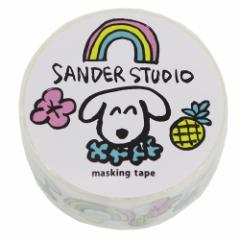 マスキングテープ 20mm マステ サンダースタジオ レインボー DECOテープ キャラクター グッズ メール便可
