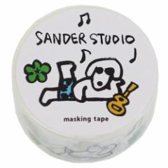 マスキングテープ 20mm マステ サンダースタジオ アウトドア DECOテープ キャラクター グッズ メール便可