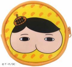 おしりたんてい ラウンド ネックポーチ 丸型 ネックパース オレンジ ポシェット キャラクター グッズ メール便可
