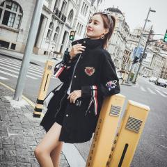 韓国ファッション 原宿系 レディース アウター ミリタリージャケット モッズコート カモフラージュ カモフラ 迷彩 ライトアウター