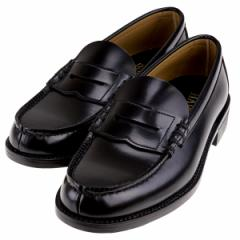 HARUTA ハルタ 6550 メンズ ローファー 幅広3E 学生靴 学生 通学 日本製  ブラック 黒 ハルタ6550 L BL
