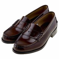 ハルタ HARUTA 3048 本革 レディース ローファー 学生靴 通学 ゆったり3E 日本製 正規取扱店 ブラウン 茶色 ハルタ3048 BR