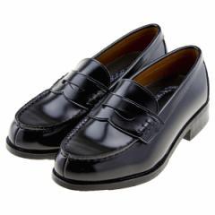 NICE CLAUP ナイスクラップ レディース ローファー 幅広3E 洗える 軽量 スクール 学生靴 通学 黒 ブラック NC-30 BL