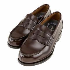 NICE CLAUP ナイスクラップ レディース ローファー 幅広3E 洗える 軽量 スクール 学生靴 通学 ブラウン 茶色  NC-30 BR
