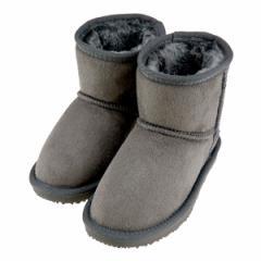 キッズ ブーツ ムートンブーツ グレー スエード 160-66614B GY 16.0cm〜18.0cm