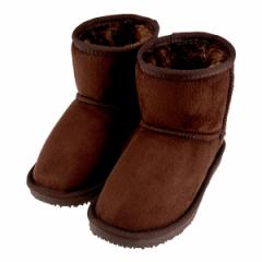 キッズ ブーツ ムートンブーツ ダークブラウン スエード 160-66614J DBR 19.0cm〜23.0cm