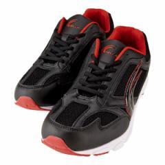 メンズ スニーカー ランニング ジョギング 運動靴 軽い ブラック×レッド 黒 赤 MO-119M BL/RD