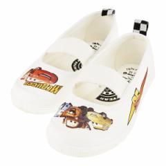 キッズ 上履き 上靴 カーズ バレエタイプ ホワイト 白 白靴 子供靴 DN 05カーズ WH