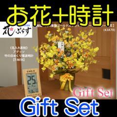 【 送料無料 名入れ 】花 ぷらす 《 竹の 日めくり 電波時計 》 ゴールドストライク 43A70-T-8656