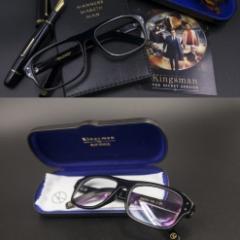 送料無料★即納★キングスマンKingsman Glassesメガネ サングラス眼鏡 レプリカ コリン・ファース タロン・エガートン 黒ブラック 新品