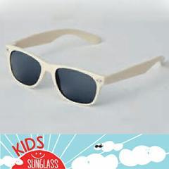 【キッズ用サングラス】99% UVカット/クールアイボリー(白)/子供向けアクセサリー/ハワイアンアクセサリー
