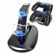 2 PS4コントローラー LED充電器  Playstation4  コントローラー LED 充電スタンド miniUSB 2台同時充電対応