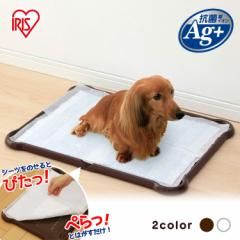 ペットトイレ 犬トイレ シーツぴたっとトレー P-SPTW ワイド ホワイト ブラウン 犬 ドッグトイレ 本体 ペット用品 いぬ イヌ 送料無料