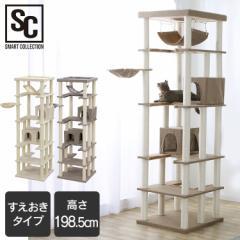 キャットタワー 据え置き 置き型 置き型 CCCT-6060S 猫タワー キャット タワー 猫 ねこ ネコ 爪とぎ ハンモック ハウス ベージュ ブラウ