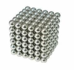 磁石 マグネットボール 脳開発知恵玩具 216個セット シルバー 3mm 立体パズル