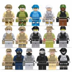 LEGO レゴ ブロック 互換品 ソルジャー 特殊部隊 陸軍 アーミー ARMY 海軍 ネービー NAVY 空軍 エアフォース AIR FORCE ミニフィグ 16体