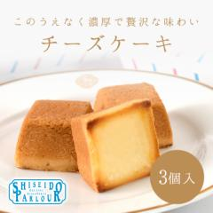 資生堂パーラー チーズケーキ 3個入 東京・銀座 お菓子 ケーキ ラッピング メッセージ 個包装 手土産 ハロウィン