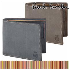 ポールスミス Paul Smith メンズ 本革 二つ折り 財布 ロウ コレクション ショップバッグ付き ブランド レザー ウォレット