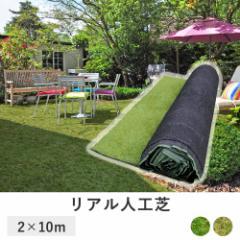 芝目が綺麗な 人工芝 ロール 2m × 10m 深型 芝たけ3.5cm | 固定ピン付き 天然芝感 35mm リアル人工芝 芝マット 人工芝生 (C228)