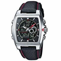 送料込! カシオ 腕時計 エディフィス CASIO  EDIFICE EFA-120L-1A1VEF  アナデジ 多機能 ブラックレッドシルバー