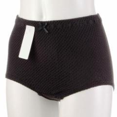 ずりあがらないコットンショーツ エトワール841 黒 M・Lサイズ ベーシック 限定色 フルバック 鹿の子編み