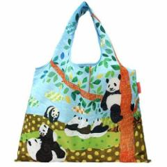 2WAYエコバッグ パンダの午後 DESIGNERS JAPAN