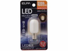 朝日電器/LEDナツメ形 E12口金 電球色/LDT1L-G-E12-G101