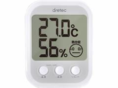 ドリテック/デジタル温湿度計 オプシスプラス ホワイト/O-251WT