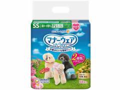 ユニチャーム/マナーウェア 女の子用 超小~小型犬用SSサイズ 38枚