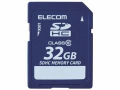 エレコム/データ復旧サービス付 SDHCカードClass10 32GB