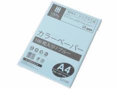 APPJ/カラーコピー用紙 A4 ブルー 1冊(100枚)/CPB101
