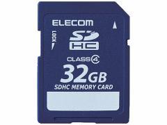 エレコム/SDHCカード Class4 データ復旧サービス付 32GB