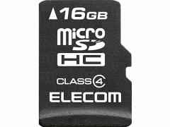 エレコム/microSDHCカード Class4 データ復旧サービス付 16GB
