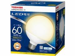 東芝/LED ボール電球形 730lm 電球色/LDG7L-G/60W